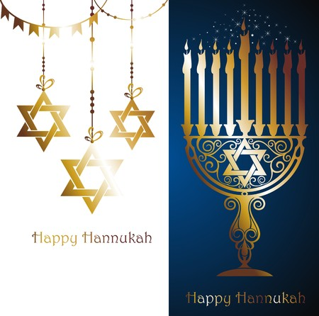 hanukka: happy hanukkah Illustration