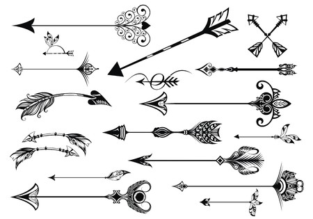 a set of cute hipster arrows