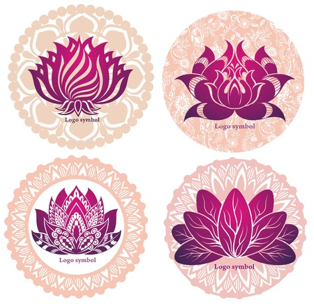 lilia: Set of lotuses and esoteric symbols