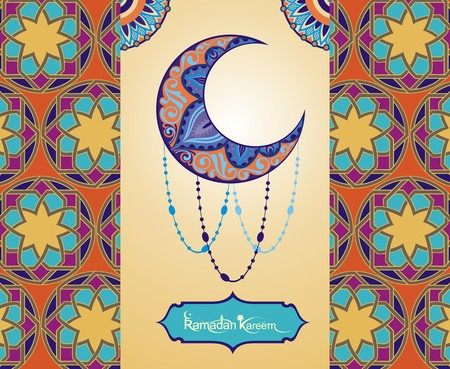 stars  background: A greeting card template Ramadan Kareem