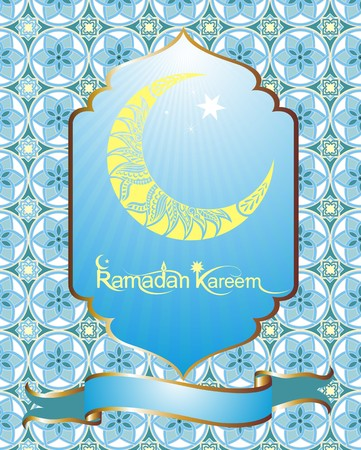 eastern religion: Ramadan Kareem background Illustration