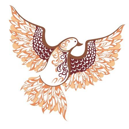 mythology: Decorative vector bird