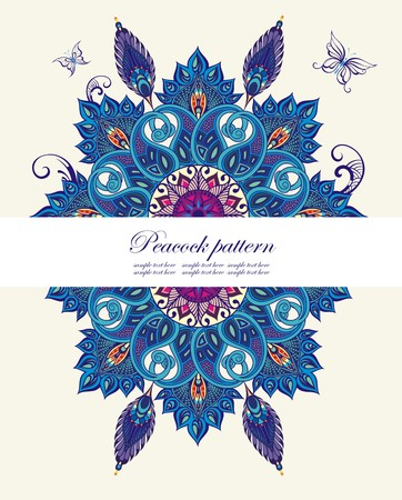 oriental pattern: Seamless vector background with oriental pattern
