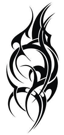 abstract shape: Tribal art tattoo abstract shape