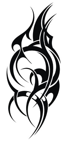 Tribal arte del tatuaje forma abstracta