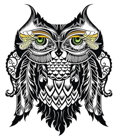 nobility symbol: Vector illustration of owl