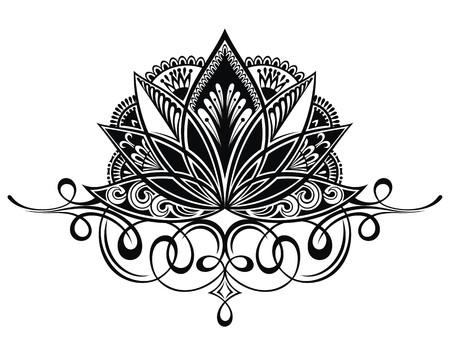 Filigraan lotusbloem Vector Illustratie