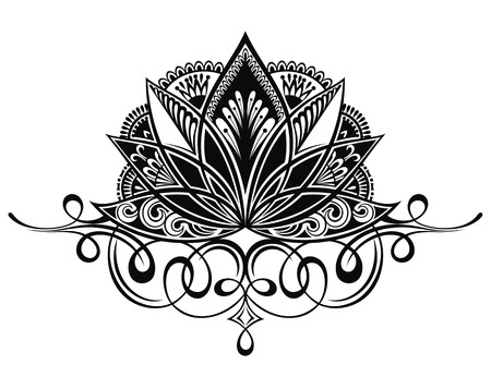 Filigree lotus flower