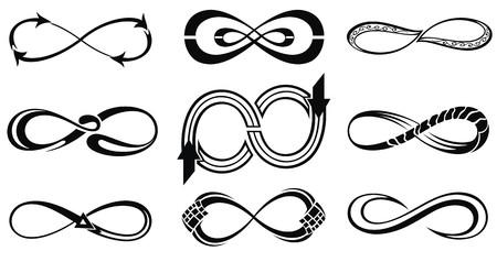 Infinity symbols  イラスト・ベクター素材