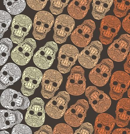 Día de Todos los Santos con el cráneo Skull.Pattern
