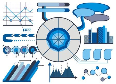 economic interest: Water infographics. Information Graphics Illustration