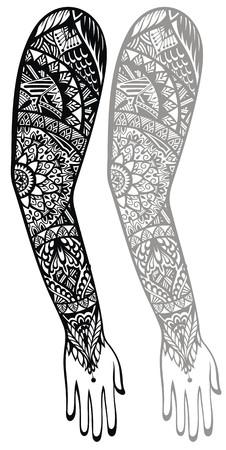 Al Estilo Maori Del Tatuaje De Diseno Adecuado Para Un Antebrazo