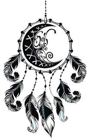 Dromenvanger met veren Stock Illustratie