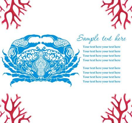 blue crab: Blue crab, cartoon illustration.Cancer