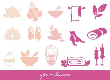 suppository: Spa icons set