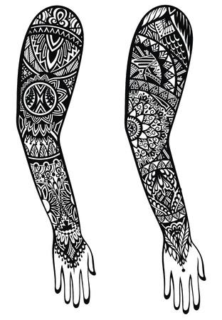 マオリ語風のタトゥーのデザイン