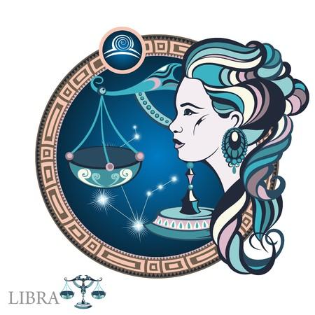 Libra. signo del zodiaco Foto de archivo - 67462011