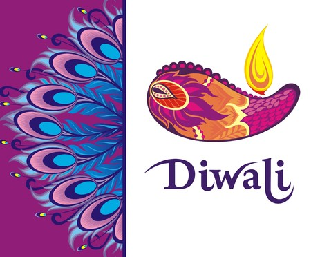 deepawali backdrop: Happy Diwali festival background Illustration