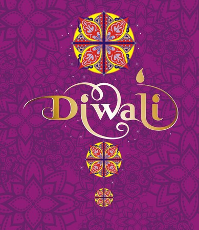 deepawali backdrop: Happy Diwali Illustration
