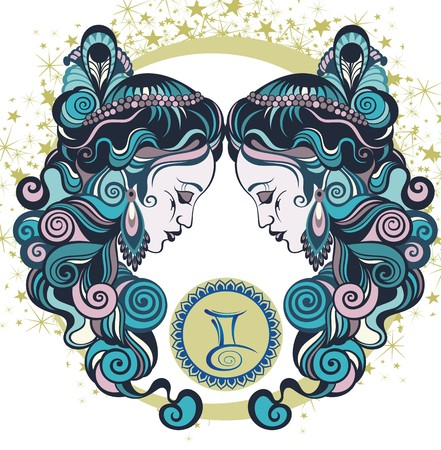 astrology signs: Decorative Zodiac sign Gemini