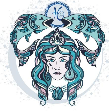 signes du zodiaque: Décoratif Zodiac signe des Poissons