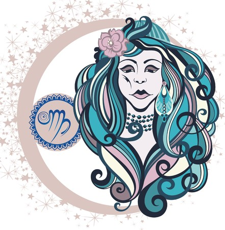 virgo zodiac sign: Decorative Zodiac sign Virgo