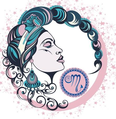 Decorative Zodiac sign Scorpio Illustration