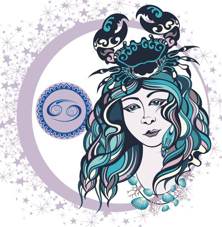 Decorative Zodiac sign Cancer