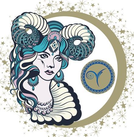 Decorative Zodiac sign Aries