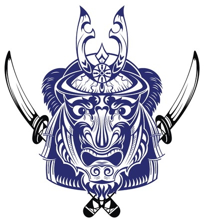 Samurai Warrior With Katana Sword