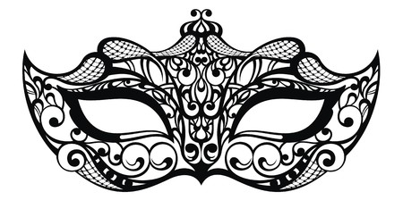 gaz: Beautiful mask of lace Illustration