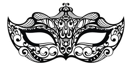 Beautiful mask of lace Çizim