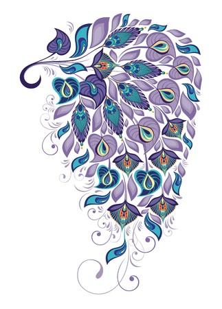 plume: Peacock plume