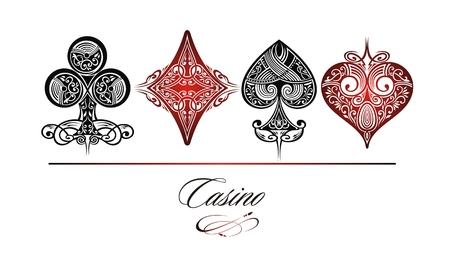 Set di simboli delle carte da gioco vettore