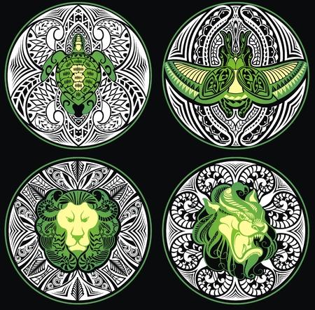 eye catcher: Tribal Amulet Illustration