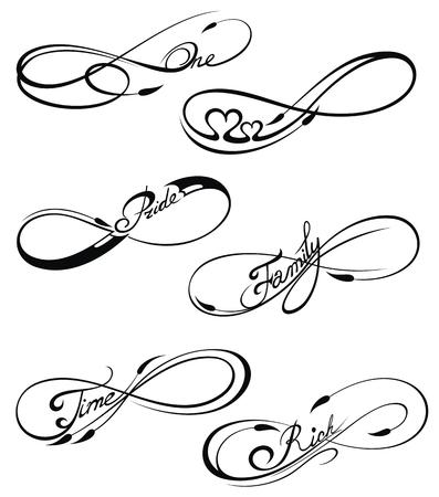 Infinity symbols Vettoriali