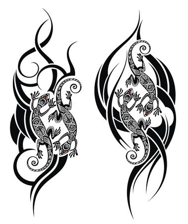 Lizard tattoo