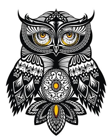 Vector Tattoo Art Owl