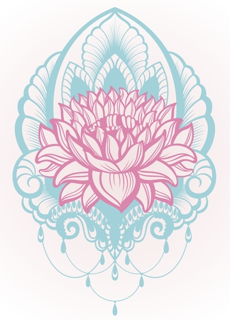 Vector Lotus Illustratie Stock Illustratie