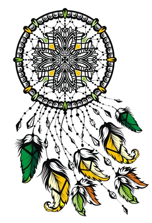 Indian Dream catcher with feathers