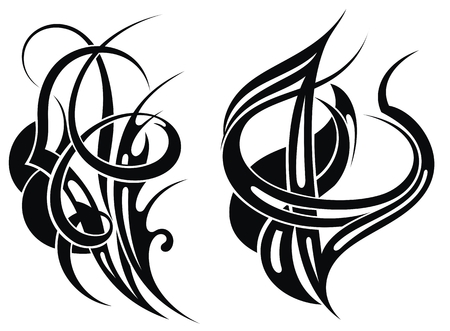 Tribal tattoo elements Illustration