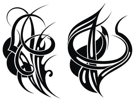 Tribal tattoo elements Illustration