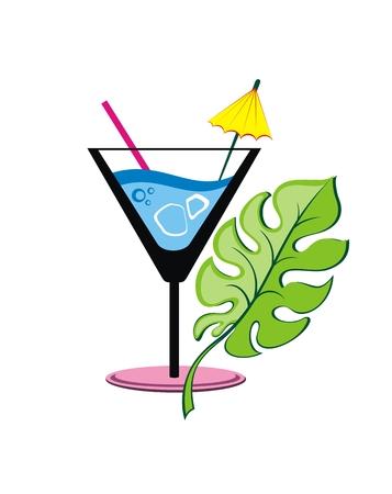 Logo of label cocktail op witte achtergrond Logo