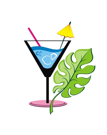 Logo or label coctail on white background
