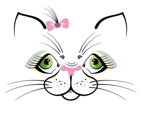 Funny cat with green eyes
