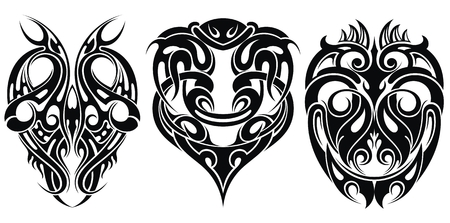 Tattoo ontwerpelementen. Bewerkbare vectorillustratie.