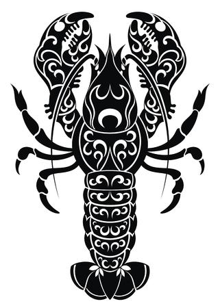 Vector canser zodiac. Tatoo design