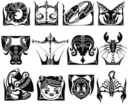 signos gráficos del zodiaco
