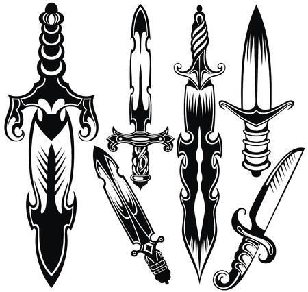 Knife, sword symbols