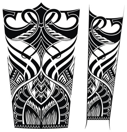 Musterelemente für Tattoo Vektorgrafik